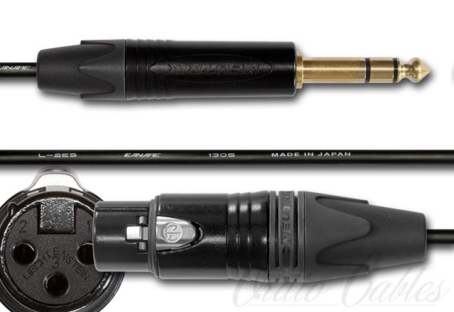 TRS to Female XLR Cable Black-Gold