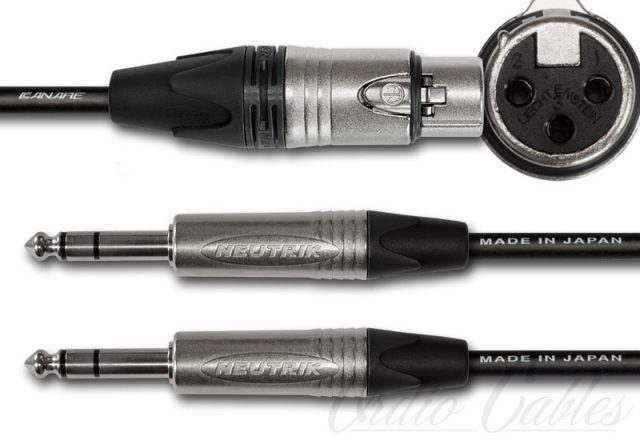 Female XLR to TRS Y-Split Cable