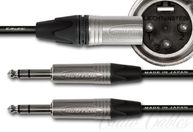 Male XLR to TRS Y-Split Cable