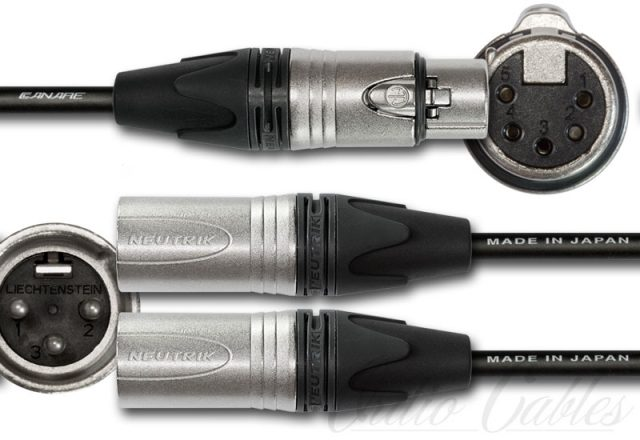 5-Pin Female XLR to Stereo Male XLR Y-Split Cable