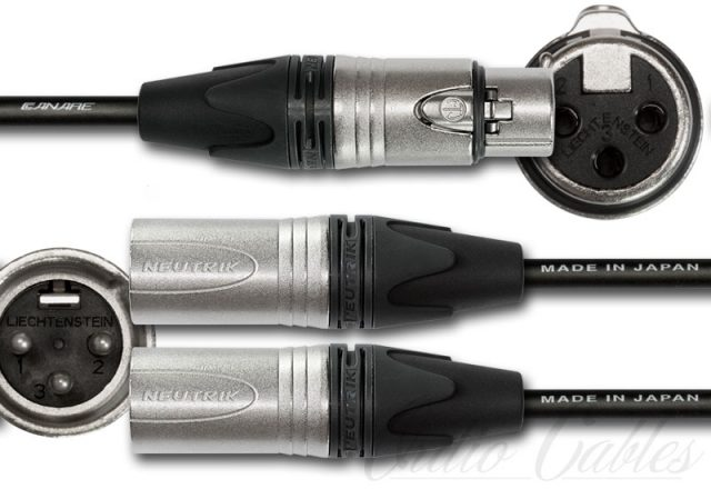 3 Pin Female XLR to 3 Pin Male XLR Y-Split Cable
